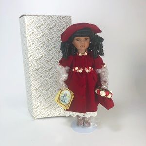 New with box Alberon Dolls porcelain doll